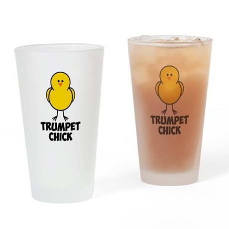 Trumpet Chick Drinking Glass