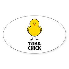 Tuba Chick Decal