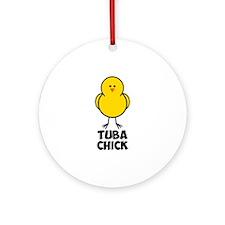Tuba Chick Ornament (Round)