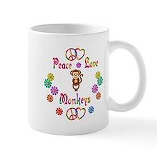 Peace Love Monkeys Small Mugs