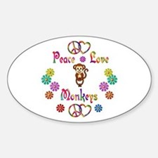 Peace Love Monkeys Decal