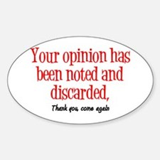 Opinion Decal