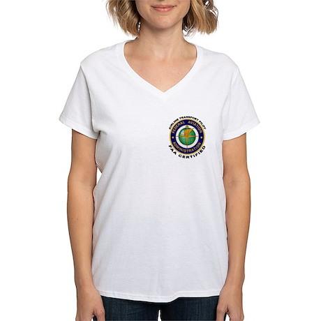 Airline Transport Pilot Women's V-Neck T-Shirt