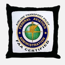 Airline Transport Pilot Throw Pillow