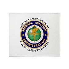 Airline Transport Pilot Throw Blanket