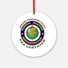 Airline Transport Pilot Ornament (Round)