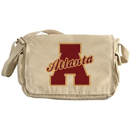 Atlanta Letter Messenger Bag