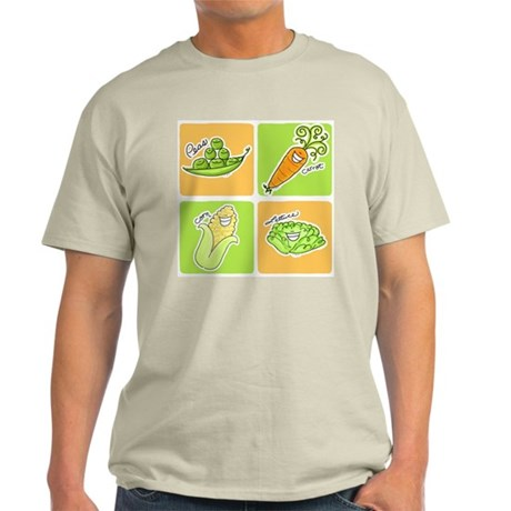 Vegetables Ash Grey T-Shirt