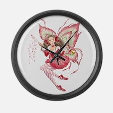 Xmas Ballet Fairy Large Wall Clock