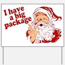 Santa Has a Big Package Yard Sign