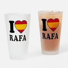 I Love Rafa Nadal Drinking Glass