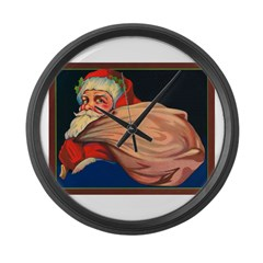 Vintage Santa Large Wall Clock