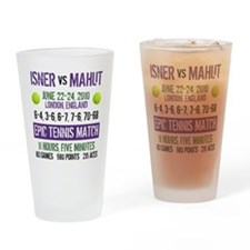 Isner Epic Match Drinking Glass