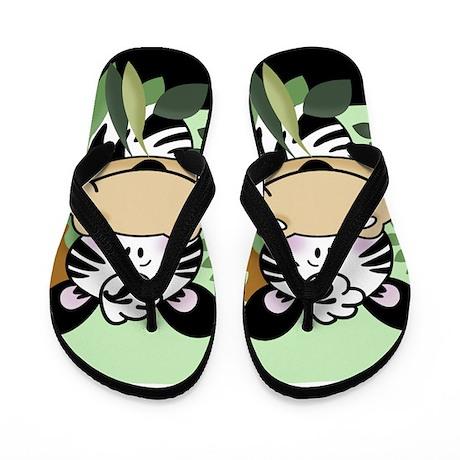Cute Zebra Flip Flops