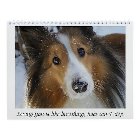 Loving you is like breathing, how ca Wall Calendar
