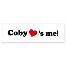 Coby loves me Bumper Car Sticker