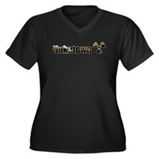 Nuketown Women's Plus Size V-Neck Dark T-Shirt