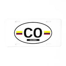 Colombia 2F Aluminum License Plate