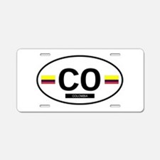 Colombia 2F Aluminum License Plate
