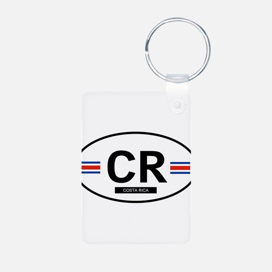 Cute Country flag Aluminum Photo Keychain
