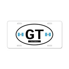 Cute Guatemala flag Aluminum License Plate