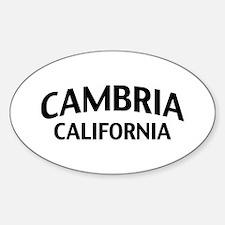 Cambria California Decal