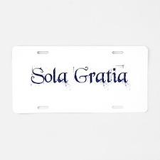 Sola Gratia Aluminum License Plate