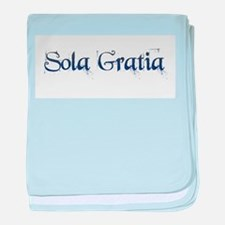 Sola Gratia baby blanket