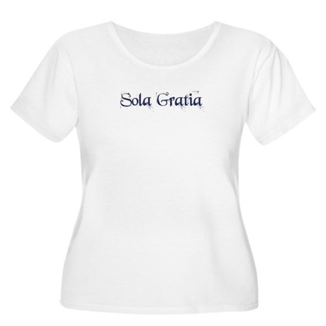 Sola Gratia Women's Plus Size Scoop Neck T-Shirt