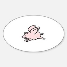 Pigs Fly Oval Decal