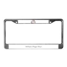 Unique Flying pigs License Plate Frame