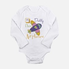 My Daddy Flies Airplanes Long Sleeve Infant Bodysu