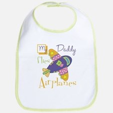My Daddy Flies Airplanes Bib