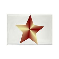 Bronze Star Rectangle Magnet