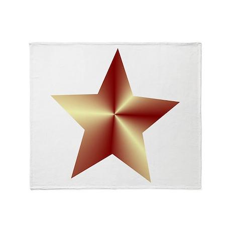 Bronze Star Throw Blanket