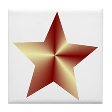 Bronze Star Tile Coaster