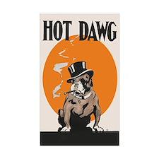 Hot Dawg Vintage Bulldog Decal
