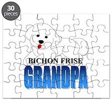 Bichon Frise Grandpa Puzzle