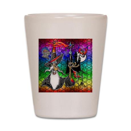 Mystical Fire Wizard Magician Shot Glass