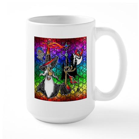 Mystical Fire Wizard Magician Large Mug