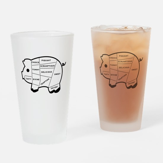 Pig Eater's Chart Drinking Glass