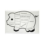 Pig Eater's Chart Rectangle Magnet