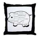 Pig Eater's Chart Throw Pillow