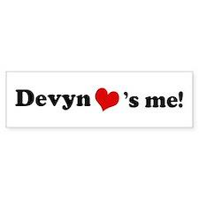 Devyn loves me Bumper Bumper Sticker