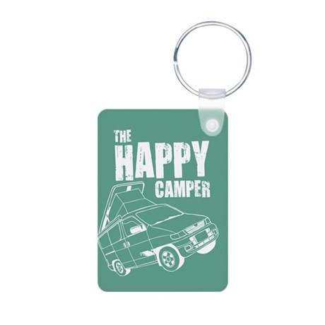 The Happy Camper Aluminum Photo Keychain