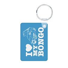 I Love My Bongo - Blue Keychains