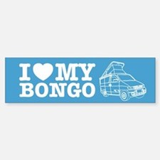 I Love My Bongo - Blue Bumper Bumper Sticker