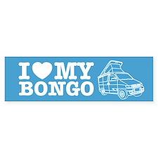 I Love My Bongo - Blue Bumper Sticker