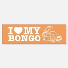I Love My Bongo - Orange Bumper Bumper Sticker