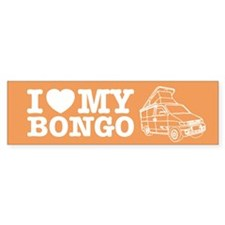 I Love My Bongo - Orange Bumper Sticker